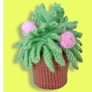 Вязаный цветок. Цветущий кактус