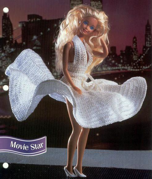 Платье Мерилин Монро для Барби