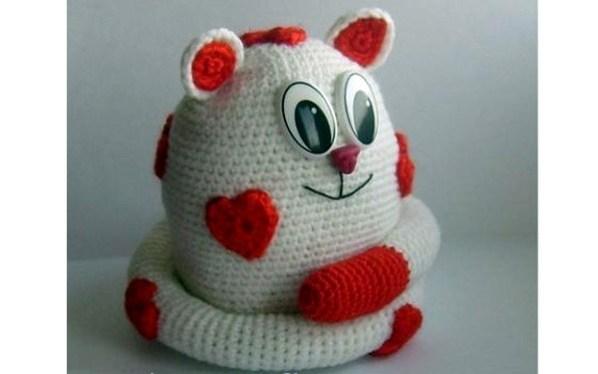 вязаный кот амурчик тыква вязаные игрушки