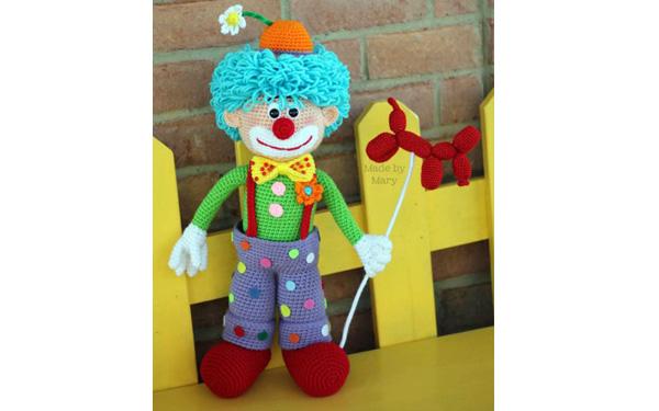 Вязаный клоун Арло. Схема