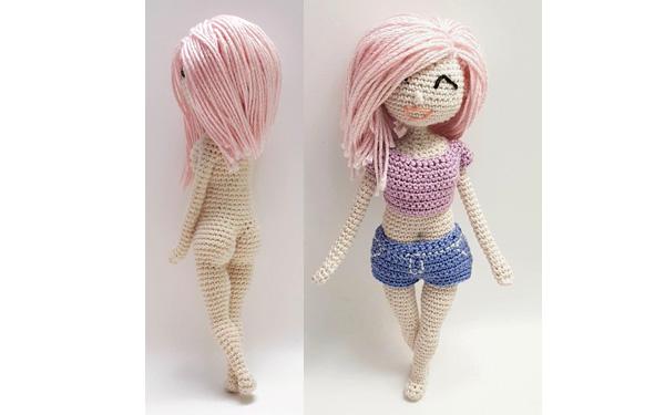 Вязаная кукла Барби. Схема