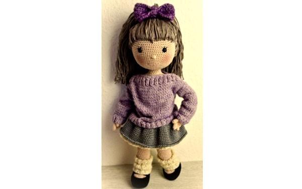 Вязаная крючком кукла Эмели. Схема