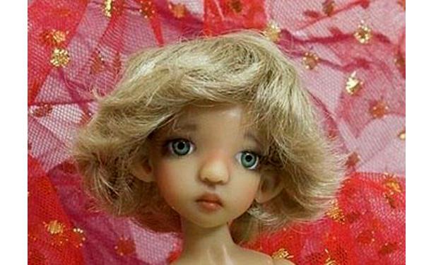 Как связать парик для куклы из трессов