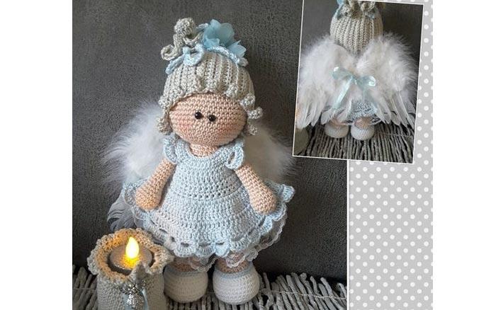 Вязаная кукла Очаровашка. Схема