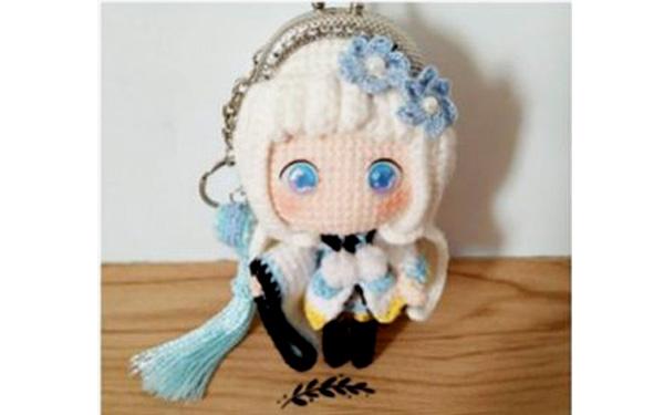 Вязаный кошелек-куколка. Схема