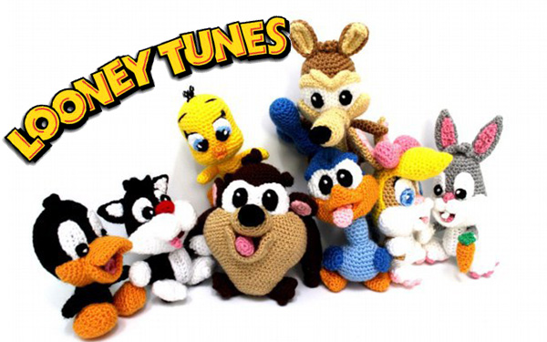 Вязаные крючком веселые модели амигуруми (Looney Tunes)