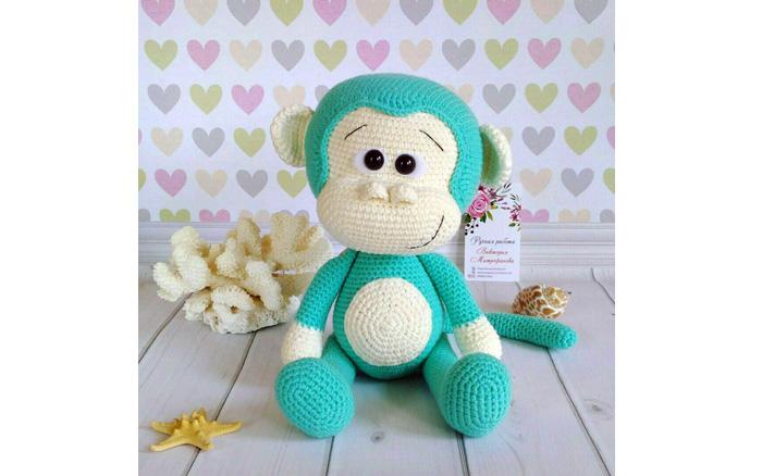 Вязаная обезьянка. Схема
