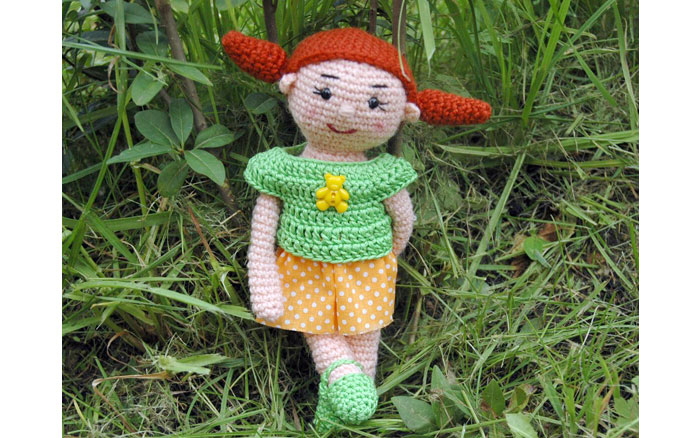 Вязаная кукла Тома. Схема