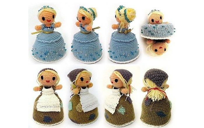 Вязаная кукла-перевертыш Золушка. Схема