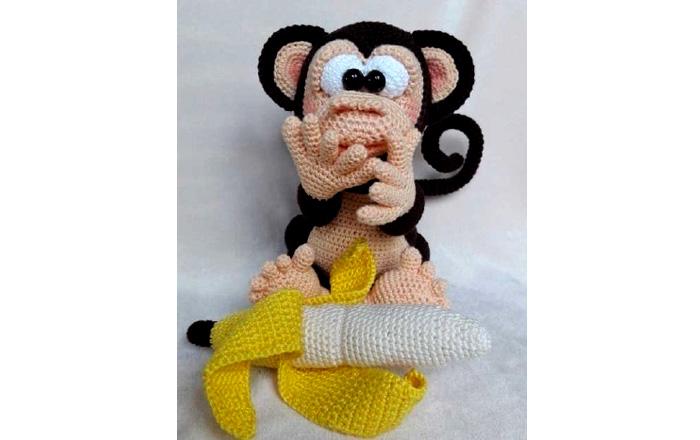Вязаная обезьяна Роро. Схема