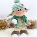 Вязаные куклы Пухляши со снежками
