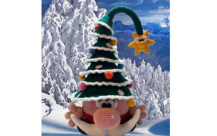 Новогодняя игрушка Гномик Санта