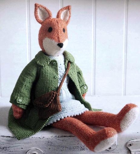 Вязаная лисичка Шарлотта. Спицами