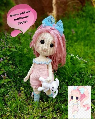 Вязаная куколка по фото. Крючком