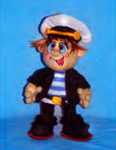 Вязаная кукла Костя морячок. Мастер-класс
