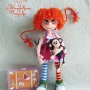 Вязаная кукла Пеппи Длинный Чулок. Мастер-класс