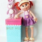 Вязаная кукла Молли. Мастер-класс