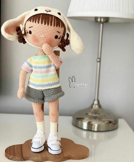 Вязаная крючком кукла Лолита