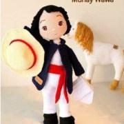 Вязаная крючком кукла Бастиан