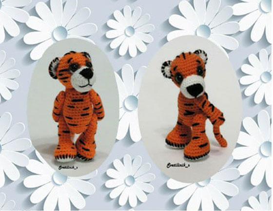 Вязаный тигр по имени Тигр-р-р