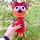 Вязаный кот Карамелька. Крючком
