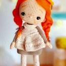 Вязаная кукла Анна ученица. Схема
