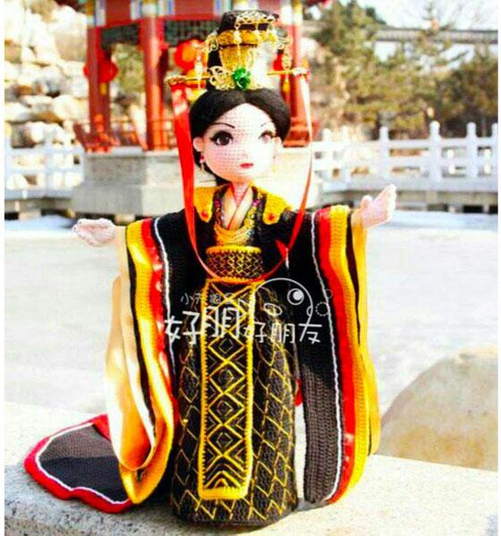 Кукла Китайская принцесса в черном платье