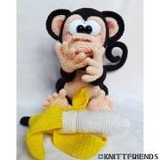 Вязаная крючком обезьяна Попо