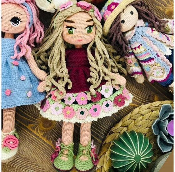 Вязаная крючком Цветочная куколка