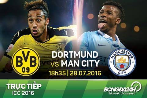 Truc tiep: Dortmund - Man City