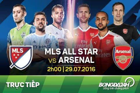 TRUC TIEP Ngoi sao MLS All-Stars vs Arsenal tran dau giao huu he 2016 06h30 ngay 297 hinh anh goc
