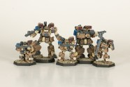 Heavy Gear Northern Firesupport Squad. Miniatures by Dream Pod 9. Painted by Tyler Provick