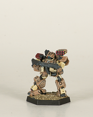 Heavy Gear Northern Head Hunter. Miniatures by Dream Pod 9. Painted by Tyler Provick