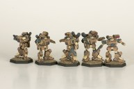 Heavy Gear Northern Strike Squad. Miniatures by Dream Pod 9. Painted by Tyler Provick