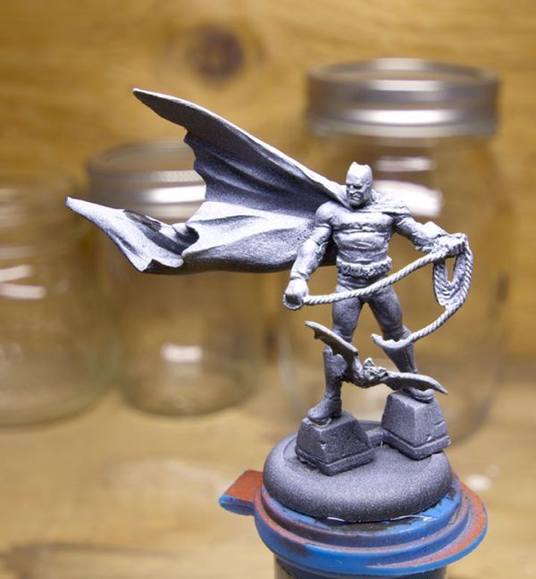 Zenithal Primed Knight Models Frank Miller Batman Miniature