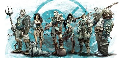 Guild Ball Fishermen Team. Copyright Steamforged Games Ltd.