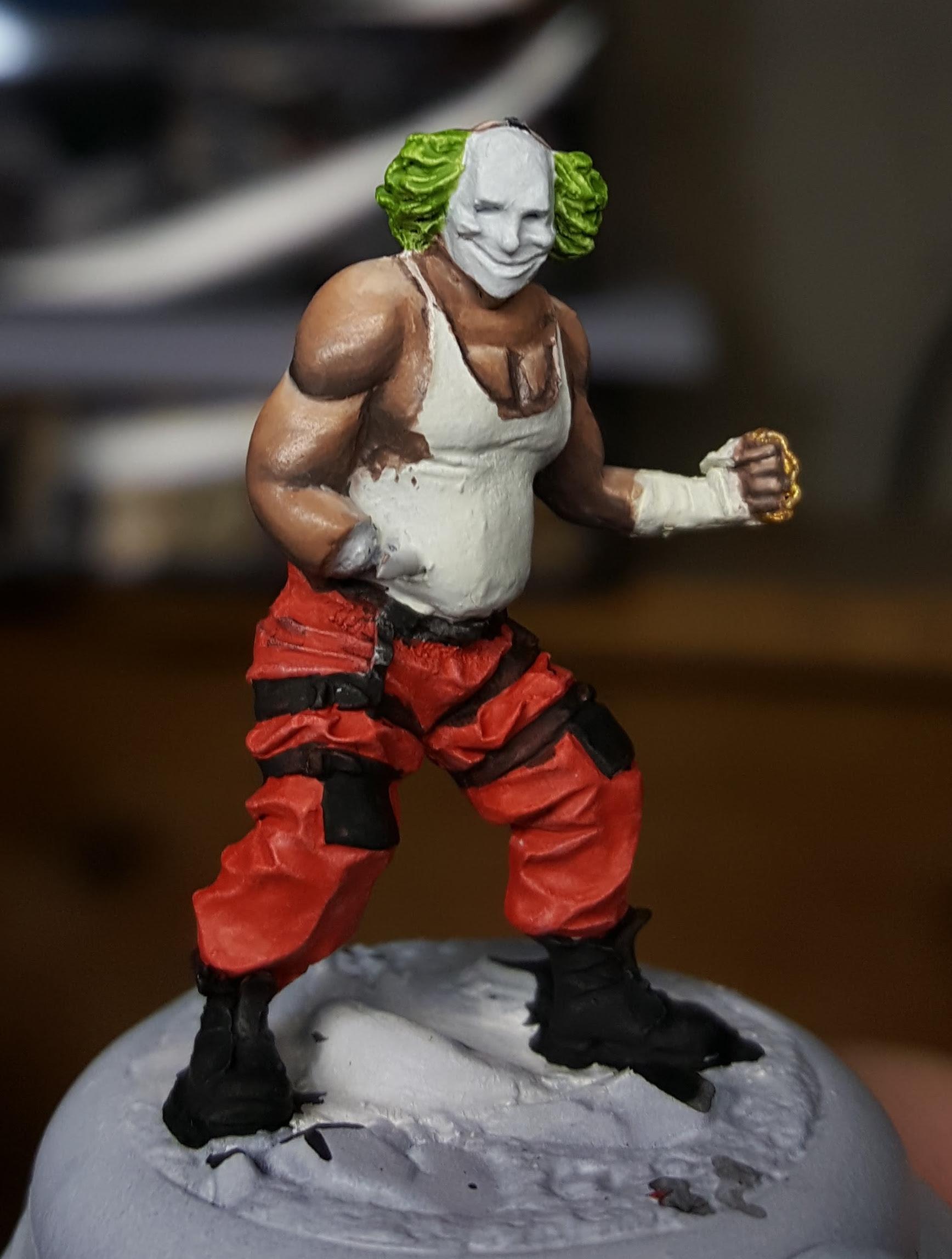 Batman Miniature Game Shield Clown Glazing