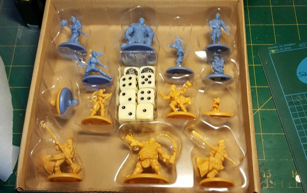 Unpainted Kick Off Miniatures by Steamdforged Games.