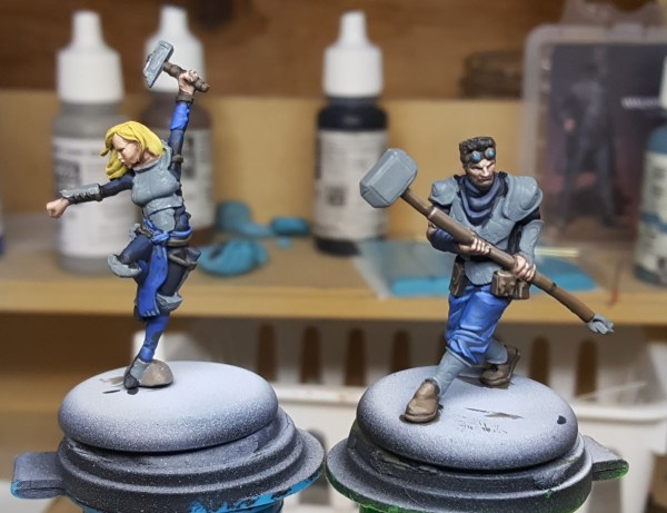 Guild Ball Masons Mallet and Honour by Steamforged Games.