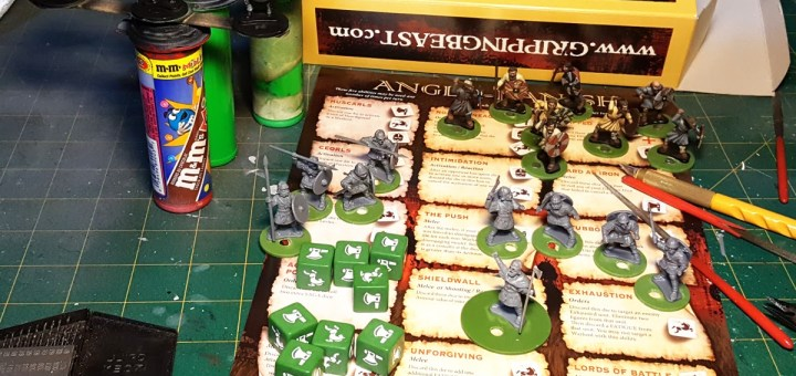 Anglo-Dane 4 Point Plastic Starter Set from Gripping Beast. Battle board and Saga dice sold separately.