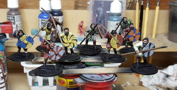 Dark Age Warriors by Gripping Beast. Painted by Tyler Provick.