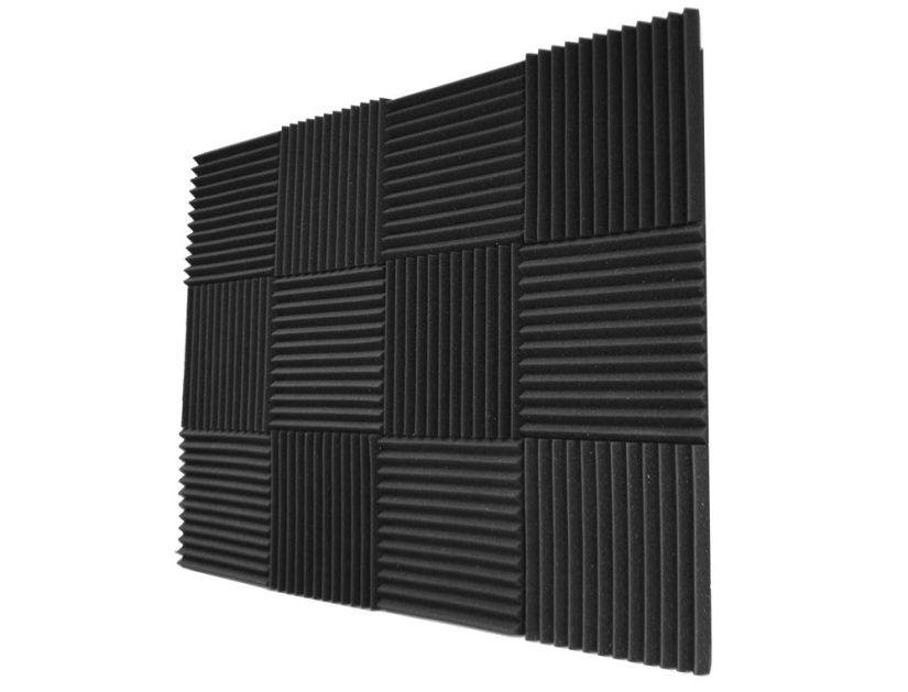 how to reduce echos in podcast recordings with sound damping foam