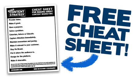 get my content marketing cheat sheet