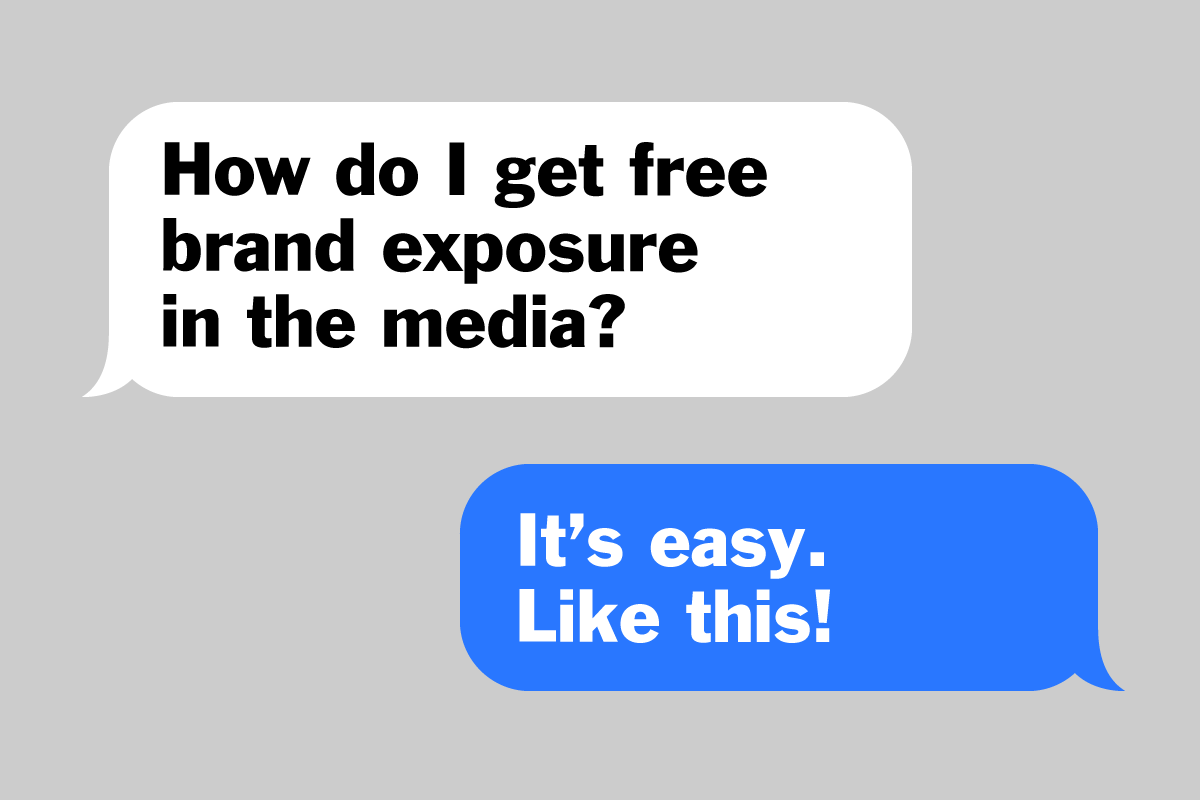 How to get FREE brand exposure on major media