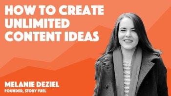 peak content summit video session cover art for melanie deziel