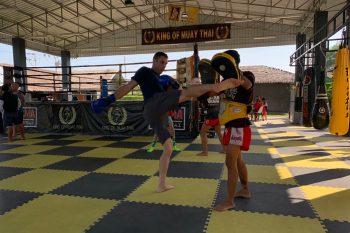 Tyler kickboxing in thailand