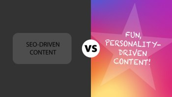 seo content versus branded story content