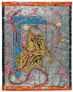 Frank Stella, 'Imola three II, state II' from the 'Circuits' series 1982-84, colour woodcut, screenprint, stencil. National Gallery of Australia, Canberra