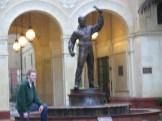 USC Douglas Fairbanks Statue in Cinematic Arts Plaza