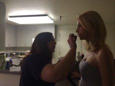 32 Melissa Touching up Anina's Makeup